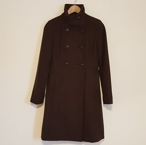 Old Navy Chocolate Double-breasted Wool Peacoat